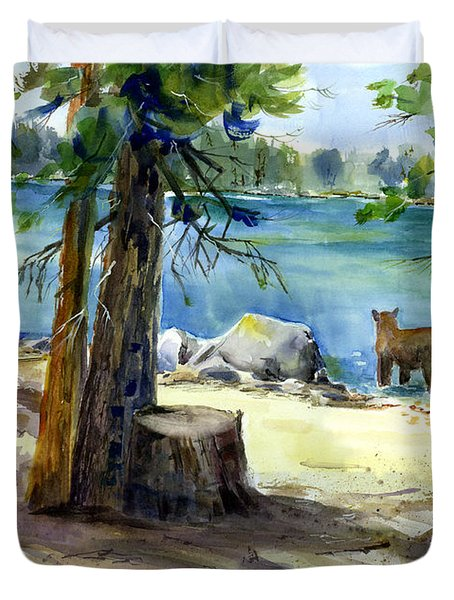 Lake Valley Bear Duvet Cover