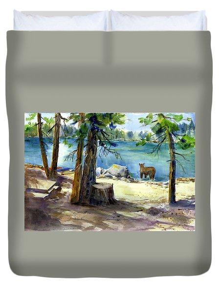 Lake Valley Bear Duvet Cover