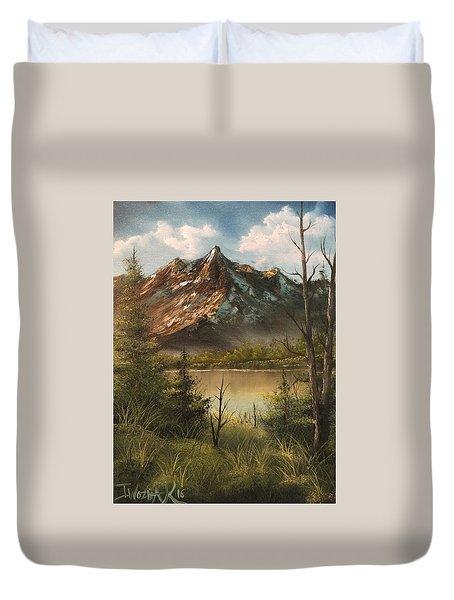 Lake View Mountain  Duvet Cover