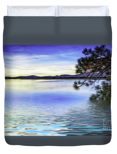 Lake View Sunrise Flood Duvet Cover by Nancy Marie Ricketts