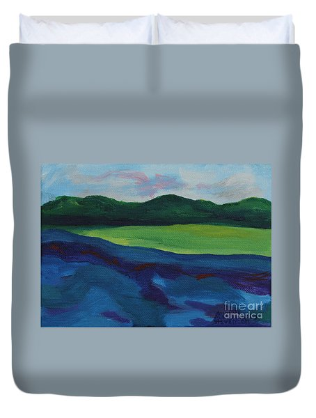 Lake Visit Duvet Cover
