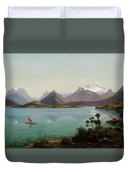 Lake Wakatipu With Mount Earnslaw. Middle Island New Zealand Duvet Cover