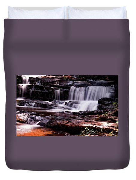 Lake Waterfall Duvet Cover