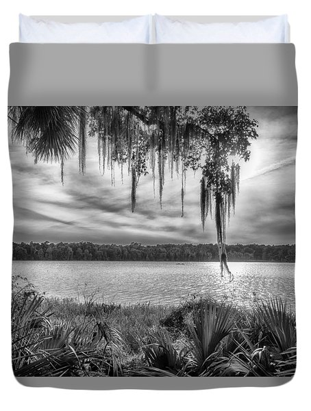 Duvet Cover featuring the photograph Lake Wauberg   by Howard Salmon