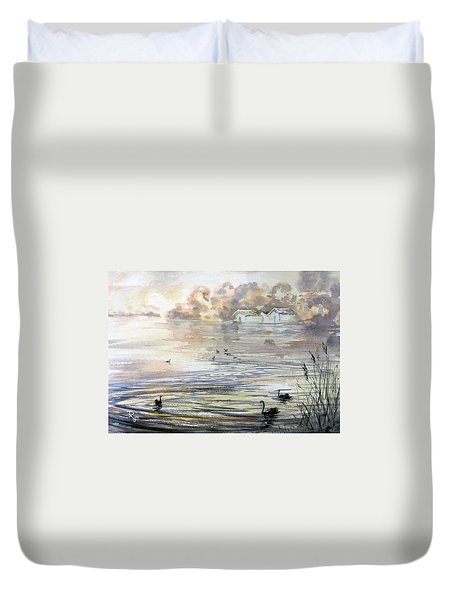 Lake Wendouree Duvet Cover