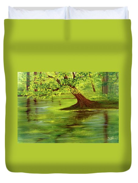 Lake Wilson Hawaii #35 Duvet Cover by Donald k Hall