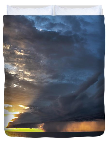 Lake Winnipeg Storm Duvet Cover