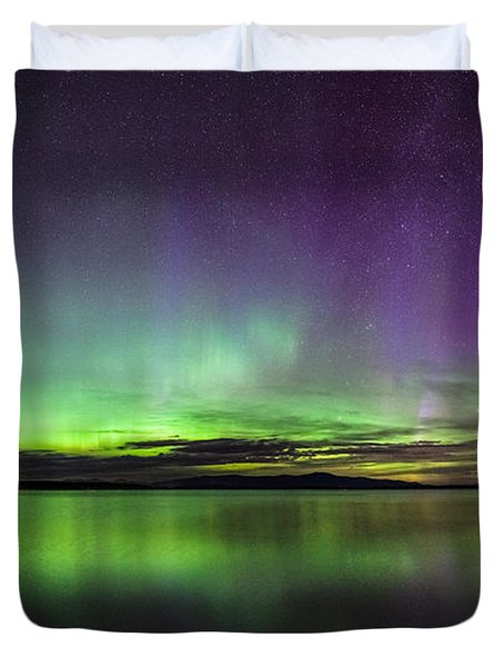 Lake Winnipesaukee Aurora Duvet Cover