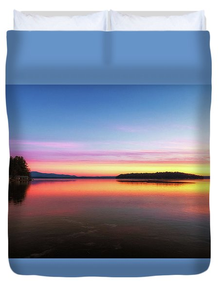 Lake Winnipesaukee Reflections Duvet Cover
