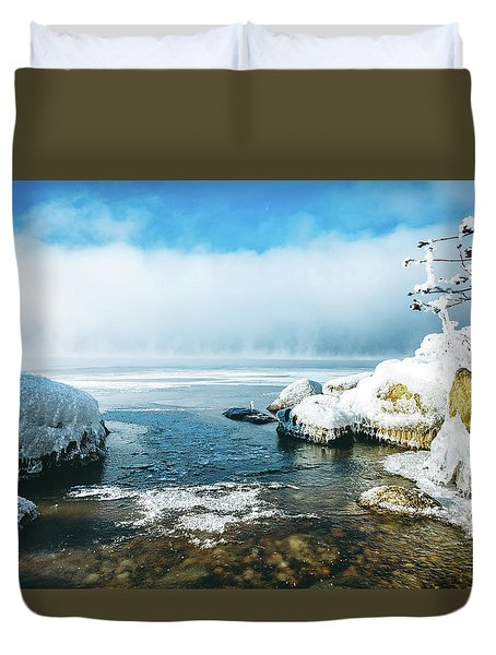 Lake Winnisquam Duvet Cover by Robert Clifford