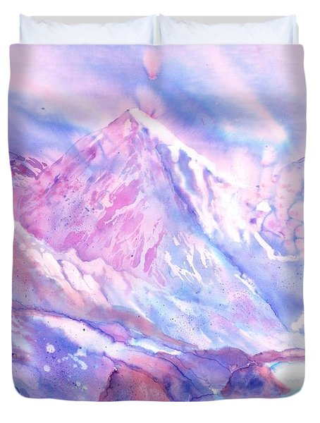 Swiss Mountains - Lake With A View Duvet Cover