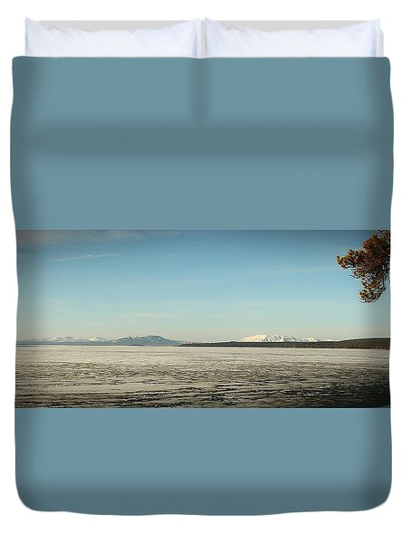Lake Yellowstone Duvet Cover