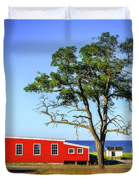 Duvet Cover featuring the photograph Lakefront In Glen Arbor by Alexey Stiop