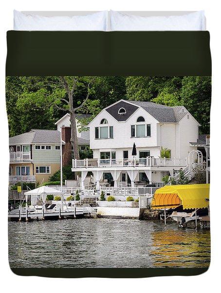 Lakefront Living Hopatcong Duvet Cover by Maureen E Ritter