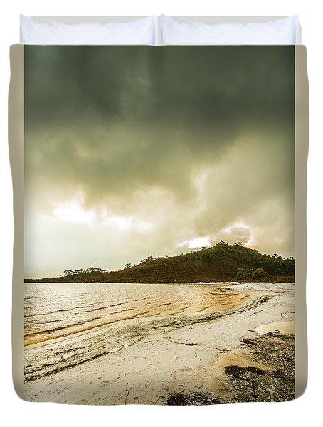 Lakeside At Southwest Tasmania  Duvet Cover