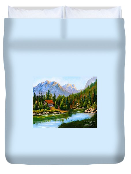 Lakeside Cabin Duvet Cover