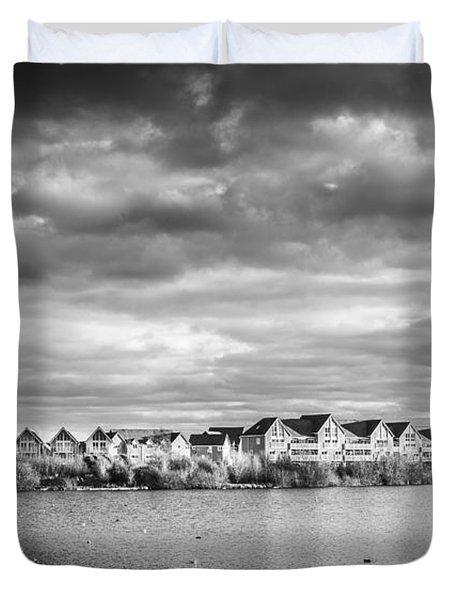 Lakeside Houses Duvet Cover