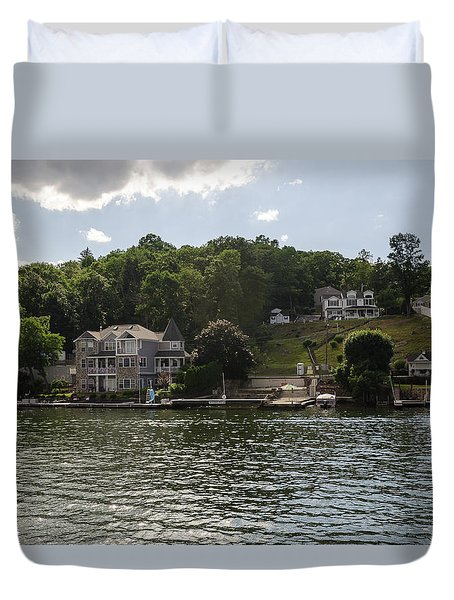 Lakeside Living Hopatcong Duvet Cover by Maureen E Ritter