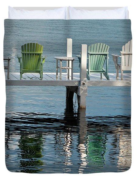 Lakeside Living Duvet Cover by Steve Gadomski