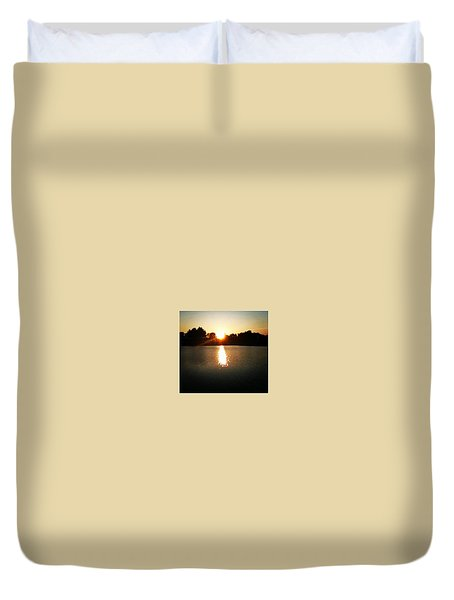 Lakeside Sunset Duvet Cover