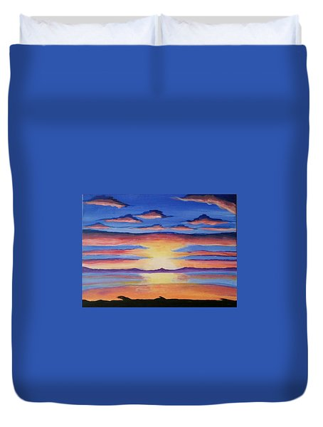Lakeview Sunset Duvet Cover