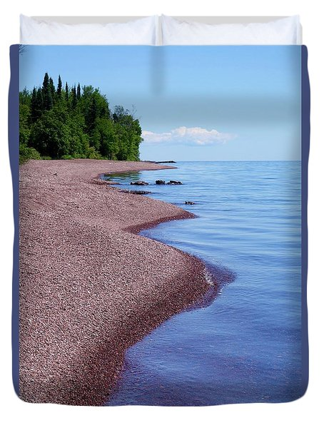 Lakewalk On The Superior Hiking Trail Duvet Cover