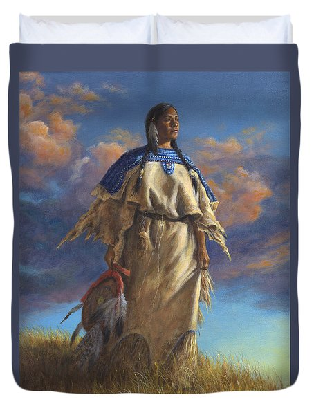 Lakota Woman Duvet Cover