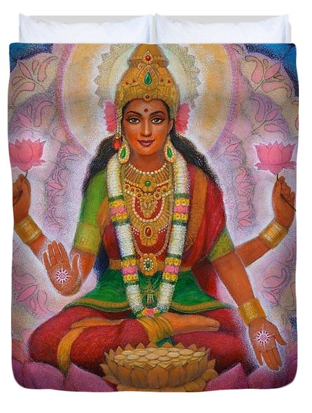 Lakshmi Blessing Duvet Cover