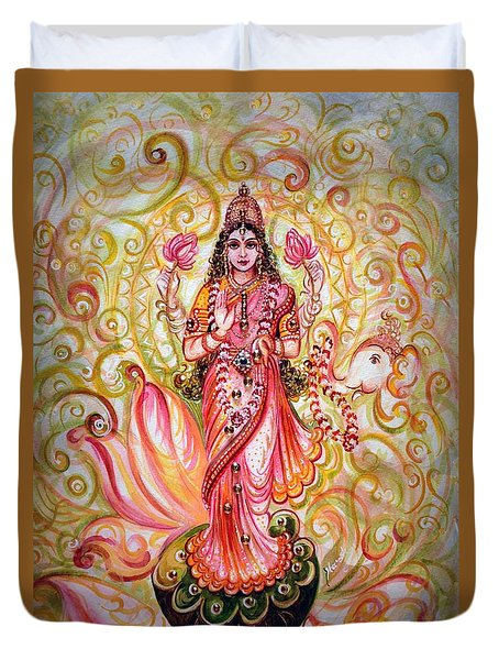 Lakshmi Darshanam Duvet Cover