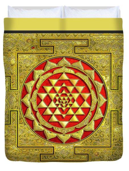 Lakshmi Kubera Yantra Duvet Cover