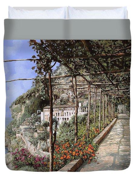 L'albergo Dei Cappuccini-costiera Amalfitana Duvet Cover by Guido Borelli
