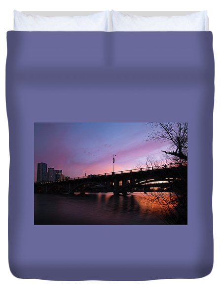 Lamar Blvd Bridge Duvet Cover