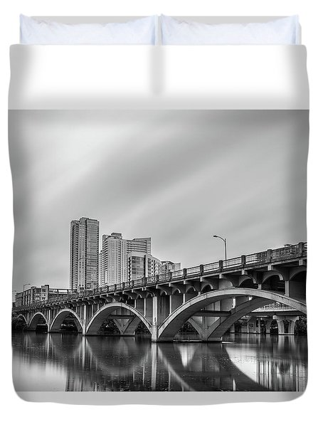 Lamar Bridge In Austin, Texas Duvet Cover