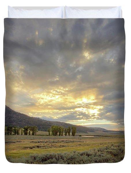 Lamar Valley Sunset Duvet Cover