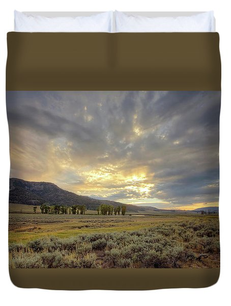 Lamar Valley Sunset Duvet Cover