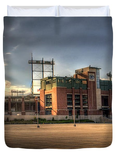 Lambeau Field Duvet Cover