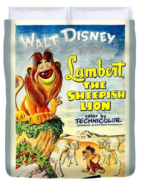 Lambert The Sheepish Lion, 1952 Walt Disney Cartoon Duvet Cover