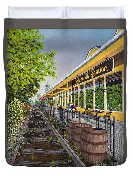 Lambertville Station Duvet Cover