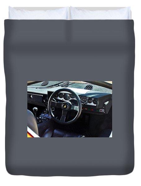Lamborghin Countach Lp400 Dashboard Duvet Cover