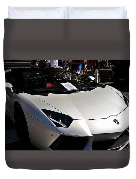 Lamborghini Aventador Roadster Duvet Cover
