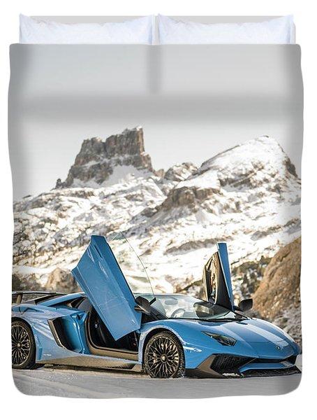 Lamborghini Aventador Sv Duvet Cover