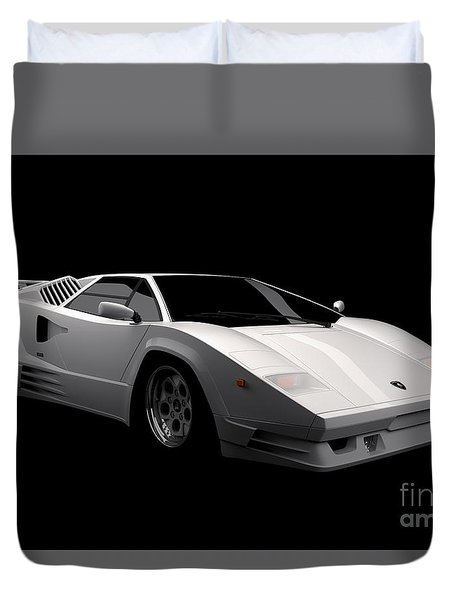 Lamborghini Countach 5000 Qv 25th Anniversary Duvet Cover