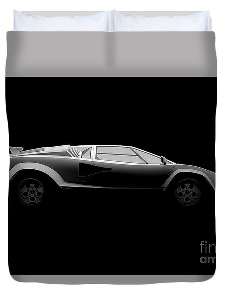 Lamborghini Countach 5000 Qv 25th Anniversary - Side View Duvet Cover