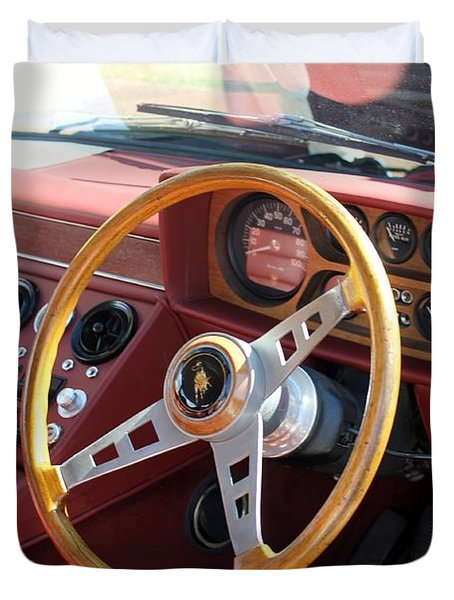 Lamborghini Espada Series 2 Cockpit Duvet Cover