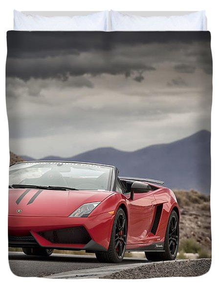 Lamborghini Gallardo Lp570-4 Spyder Performante Duvet Cover