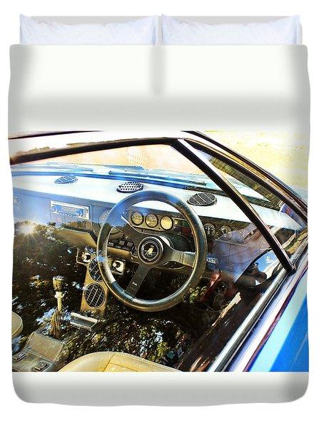 Lamborghini Urraco P250 S Interior Duvet Cover