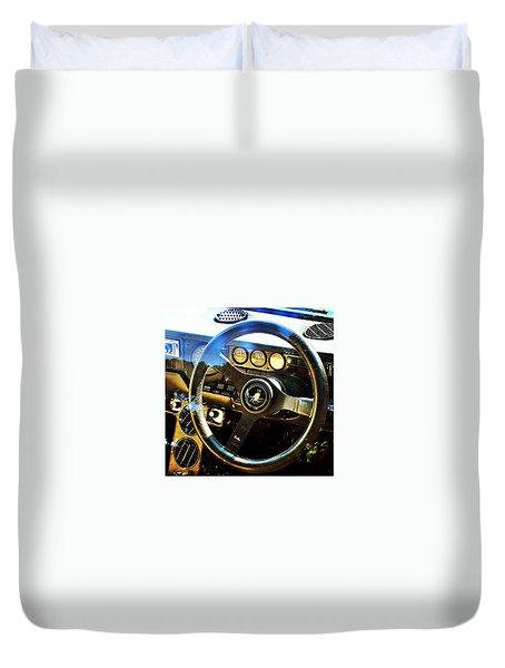 Lamborghini Urraco P250s Dashboard Duvet Cover
