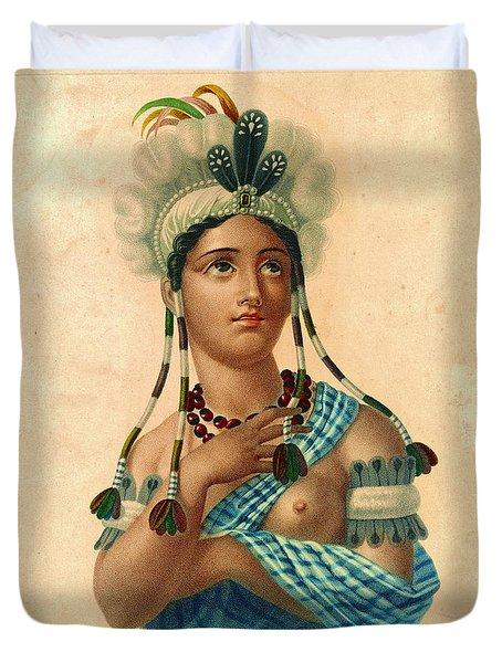 L'amerique 1820 Duvet Cover