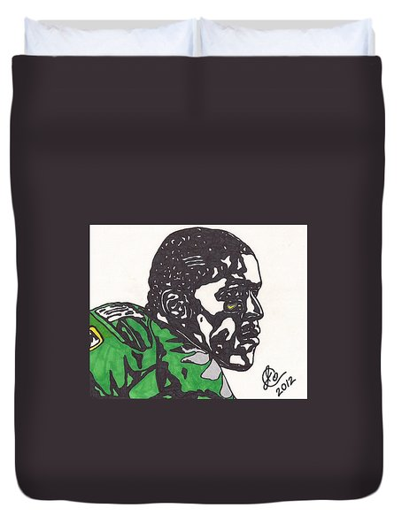 Duvet Cover featuring the drawing Lamicheal James 2 by Jeremiah Colley
