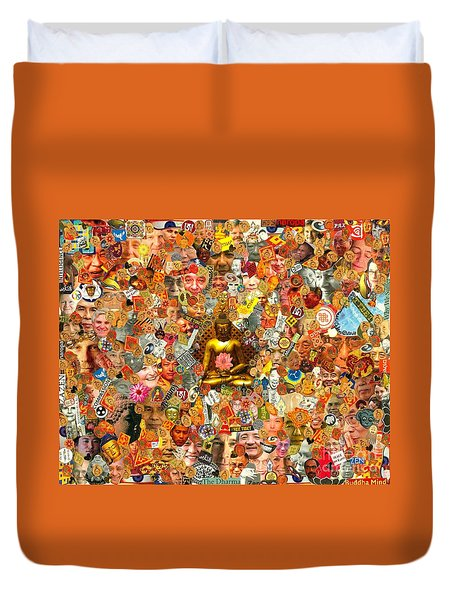 Duvet Cover featuring the mixed media Lamps Of Enlightenment by Peter Gumaer Ogden